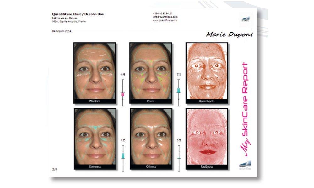 Estudio dermocosmético imagenes 3d